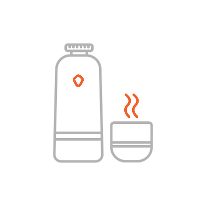 Vacuum Flask Icon with Editable Stroke