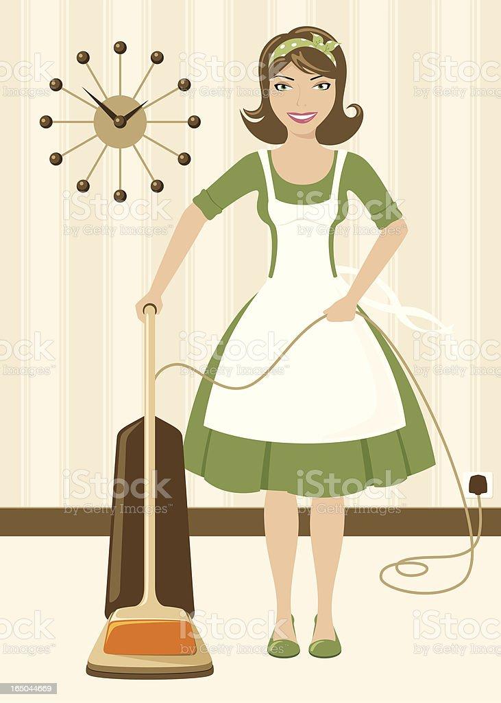 Vacuuming - incl. jpeg royalty-free stock vector art