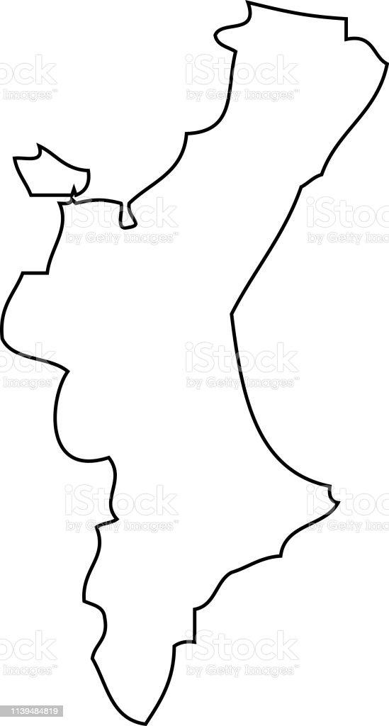 Valencia Map Region Of Spain Stock Illustration - Download ... on venice italy region map, castilla y leon spain map, spain tourist map, castile map, galicia spain region map, madrid spain region map, barcelona spain region map, hong kong china region map, rioja spain wine region map,
