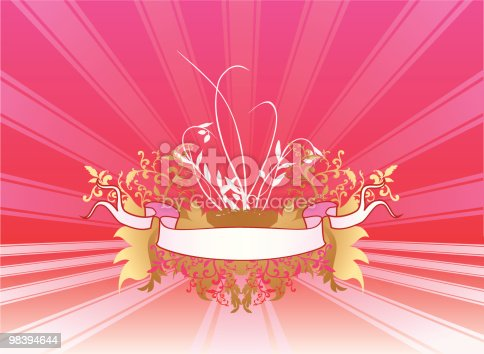 Valentiine Background Stock Vector Art & More Images of Backgrounds 98394644