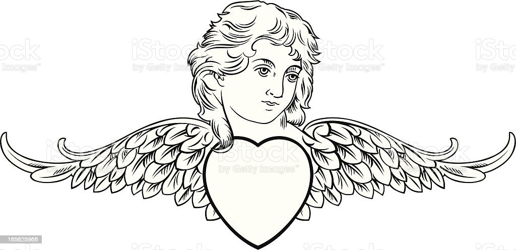 Valentine Angel vector art illustration