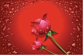 Illustration of Beautiful Valentine background, All elements is individual objects. No transparencies. Hi res jpeg included. User can edit easily, all layers are separate, Please view my profile.