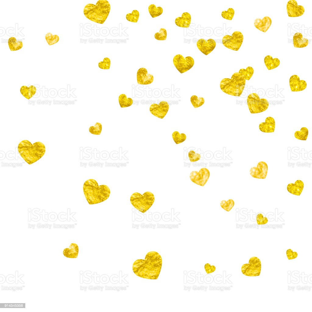024e9f128 Alla Hjärtans Bakgrunden Med Guld Glitter Hjärtan Februari 14 E Dag ...