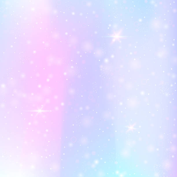 valentine background with pink glitter hearts. february 14th day. - rainbow glitter background stock illustrations