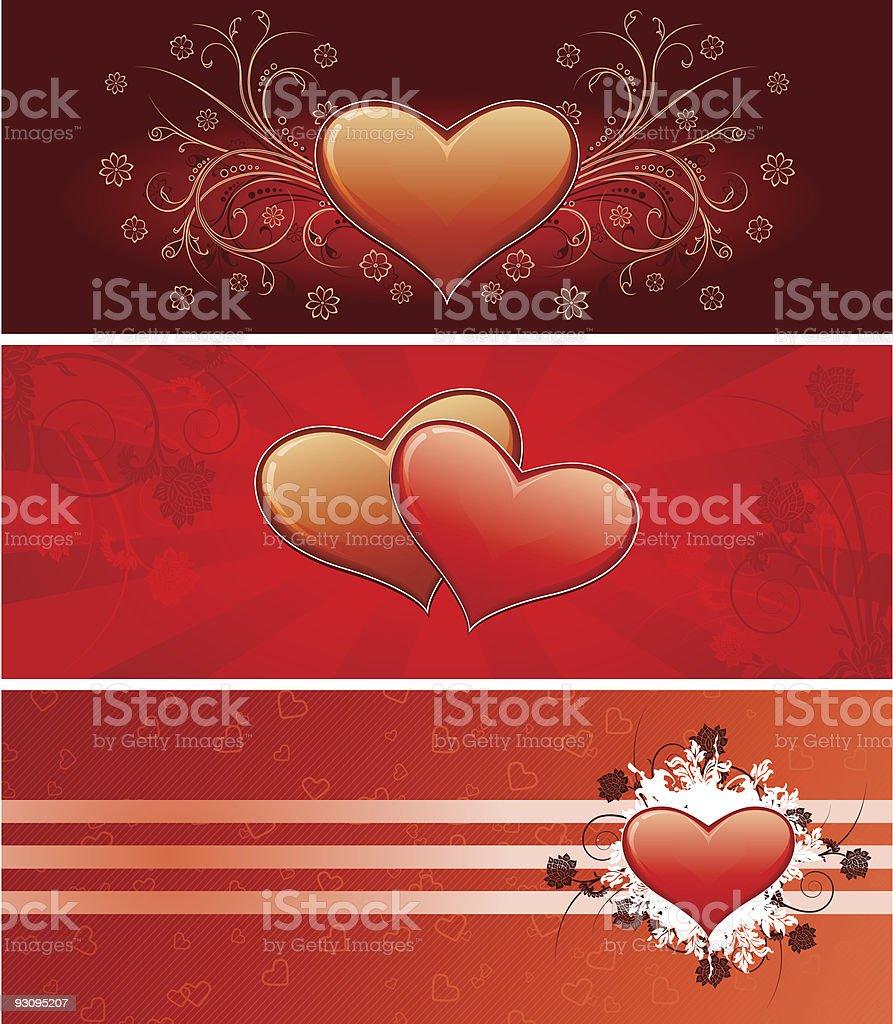 Valentine banners royalty-free valentine banners stock vector art & more images of backgrounds