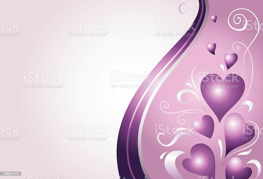 Valentine Birthday Card Background In Pink Violet Stock Vector Art