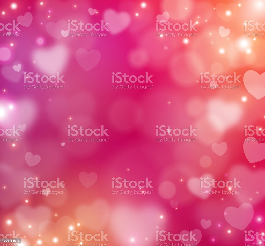 Valentine blur abstract background vector art illustration