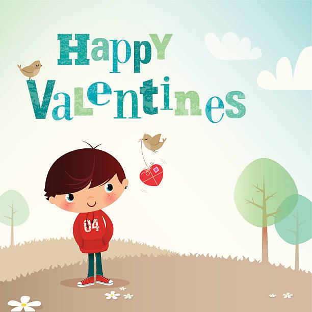 illustrazioni stock, clip art, cartoni animati e icone di tendenza di ragazzo di san valentino - love word