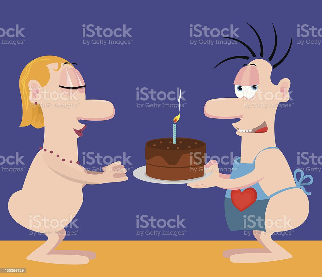 Valentine cake royalty-free stock vector art