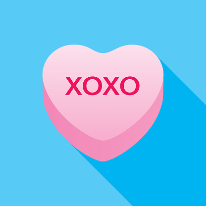 XOXO Valentine Candy Heart Icon