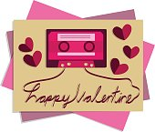 Valentine card picture cassette tape