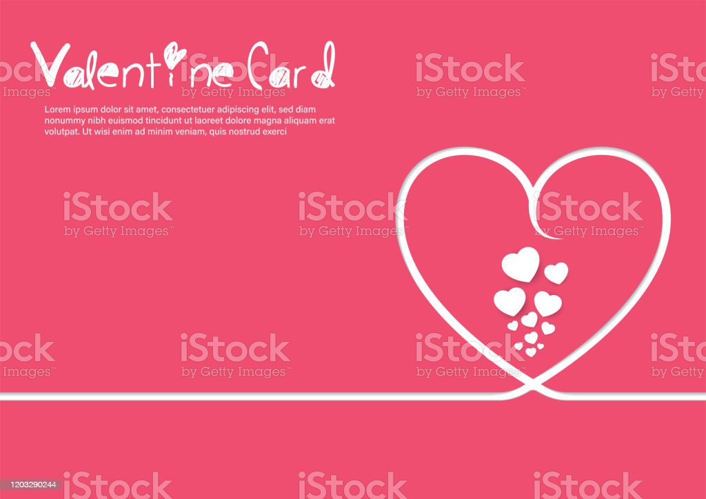 Valentine Card Template Stock Illustration Download Image Now Istock