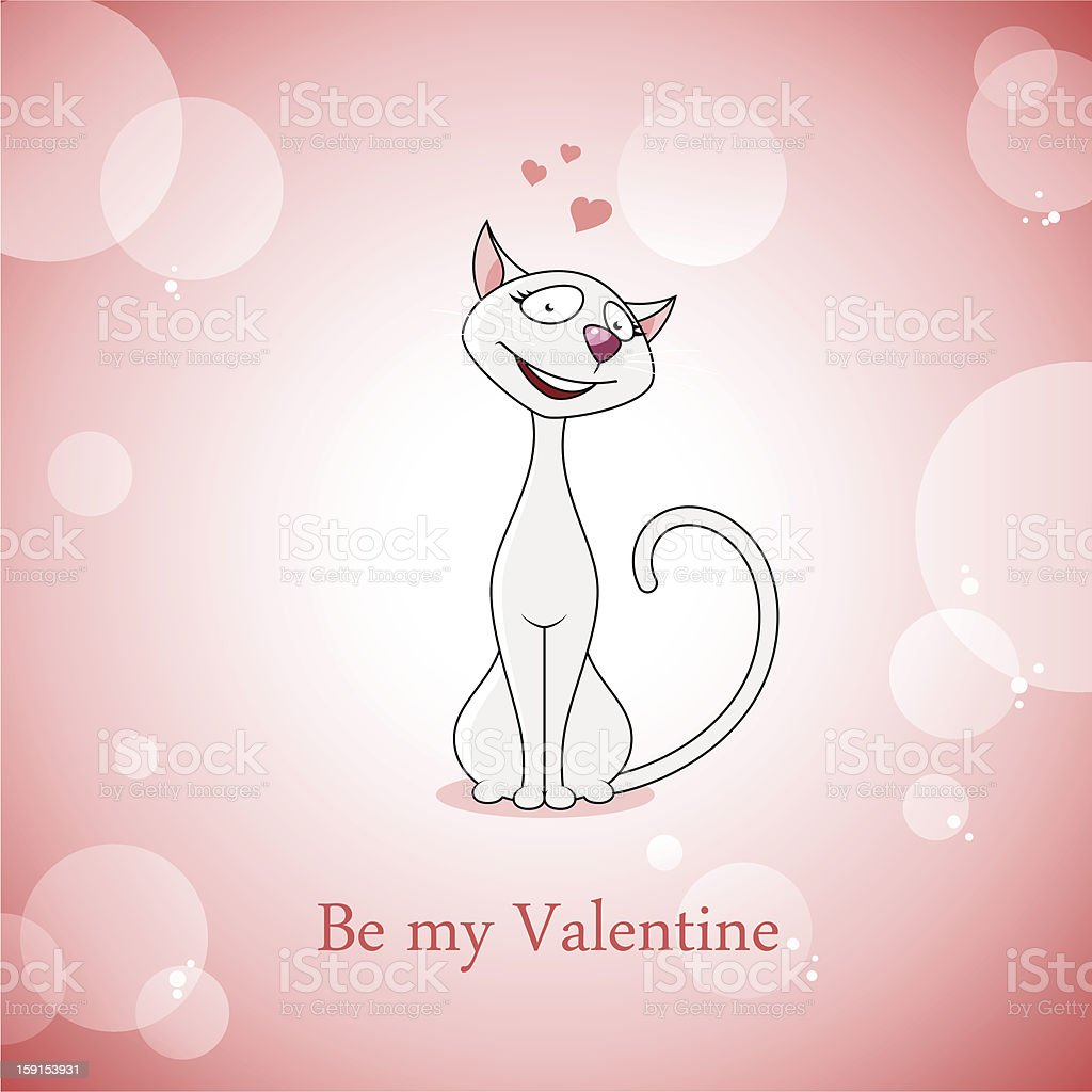 Valentine card vector art illustration