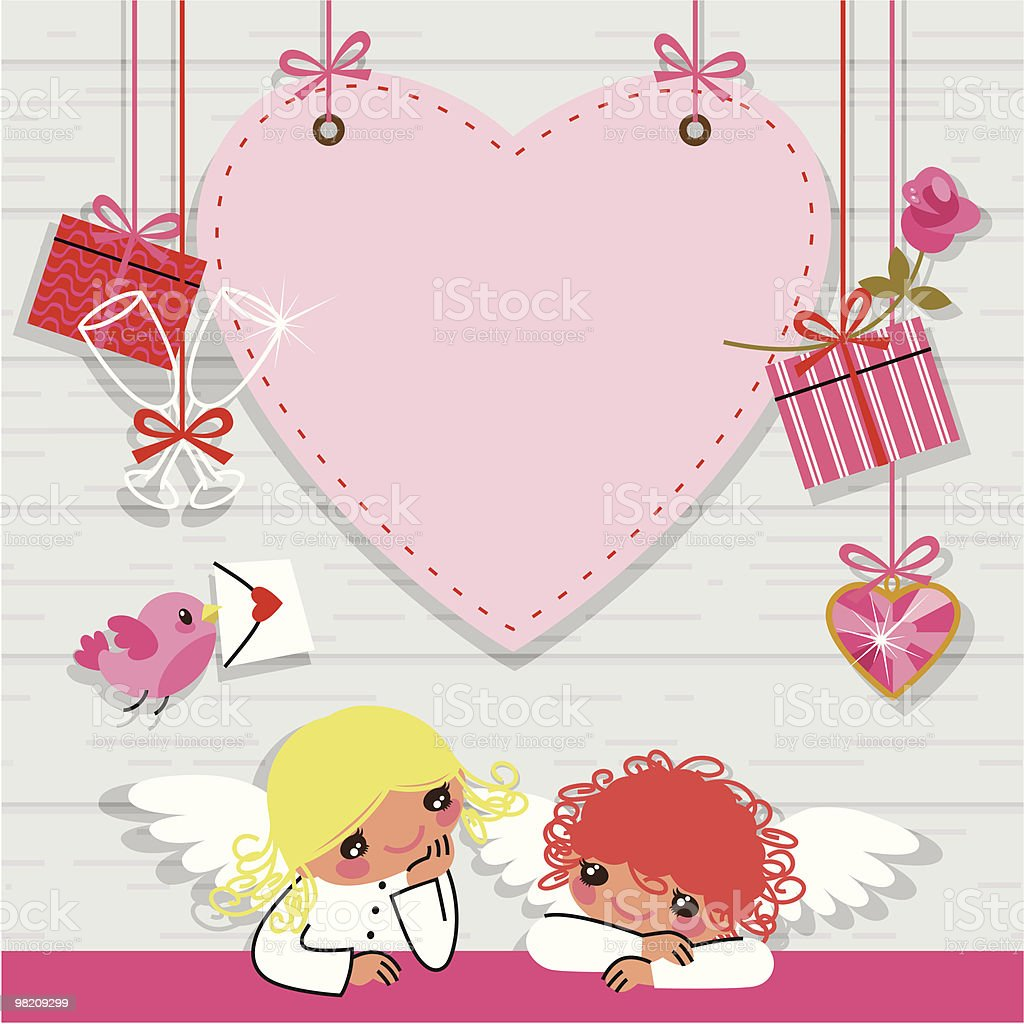 Valentine Card. royalty-free valentine card stock vector art & more images of bird