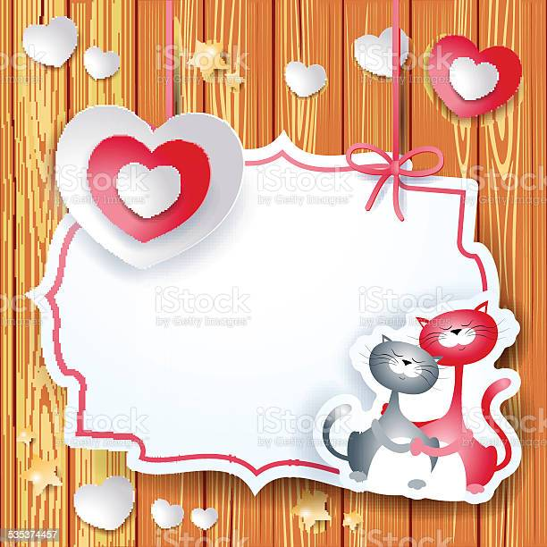 Valentine card with heart and lovely cats vector id535374457?b=1&k=6&m=535374457&s=612x612&h=nsg3iyl9qot9 d3tcfl4tdwqrbkzvsx0cru9nncelzq=