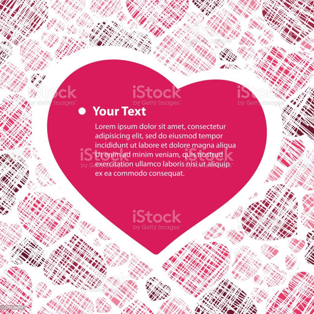 Valentine Card With Hearts Background向量圖形及更多2015年