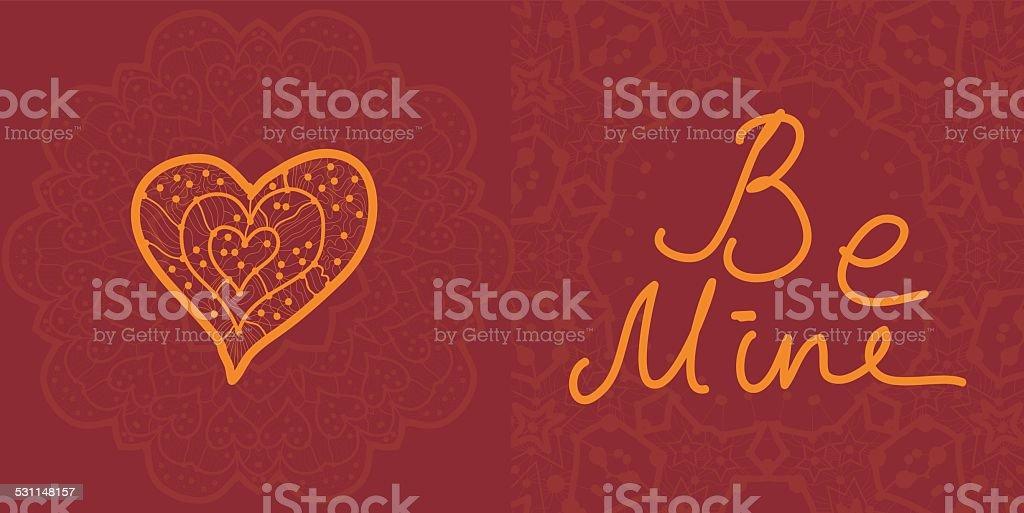 Valentine cards, vector design editable. vector art illustration