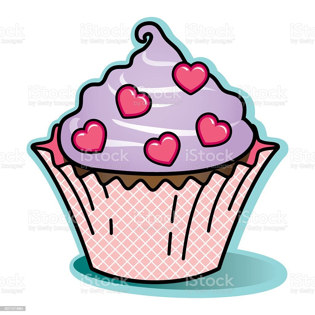 Royalty Free Decorating Cupcakes With Fondant Clip Art Vector