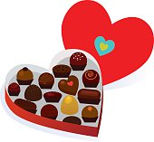 A box of chocolates for the one you love. Editable vector file.