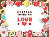 Valentine colorful icon set