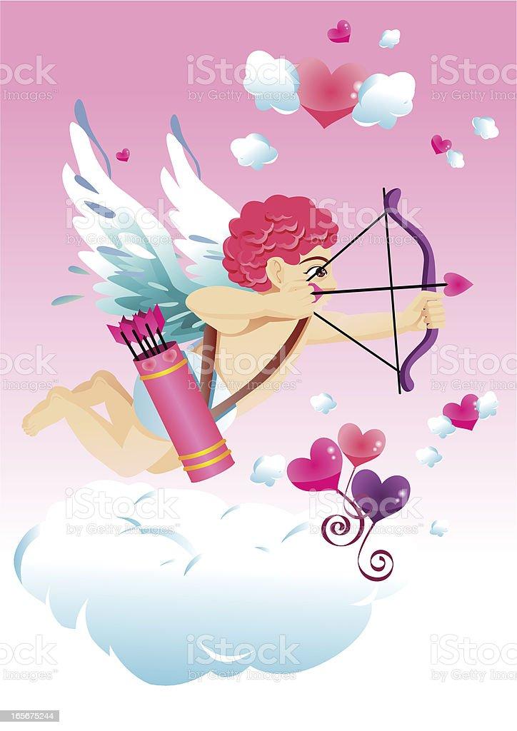 Valentine Cupid royalty-free stock vector art