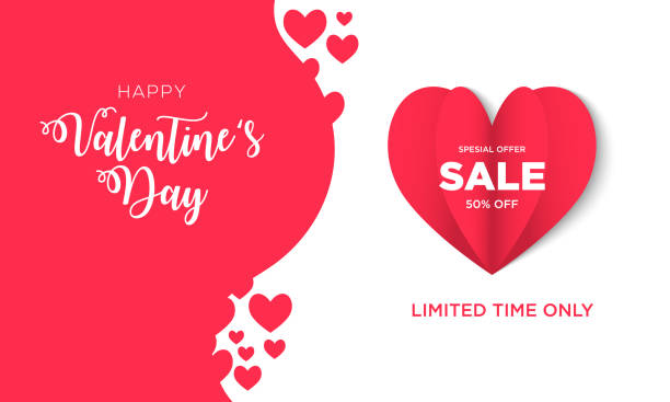 Valentine Day Background Sale Background valentine for banner, poster, promo, brochure etc valentine card stock illustrations