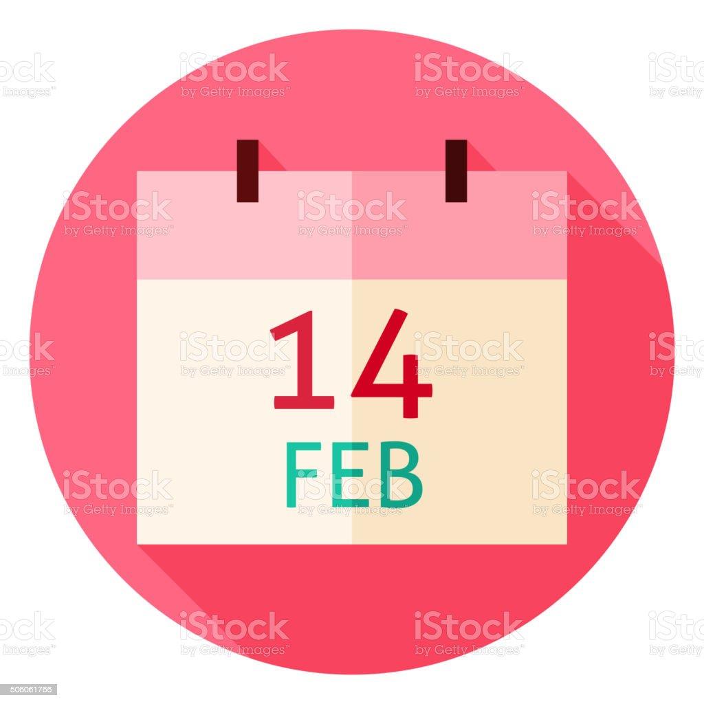 Valentinstag Datum Kreis Symbol Lizenzfreies Vektor Illustration