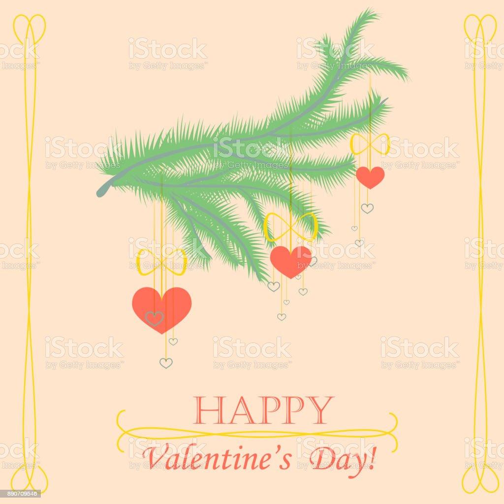 Valentine Day Card vector art illustration