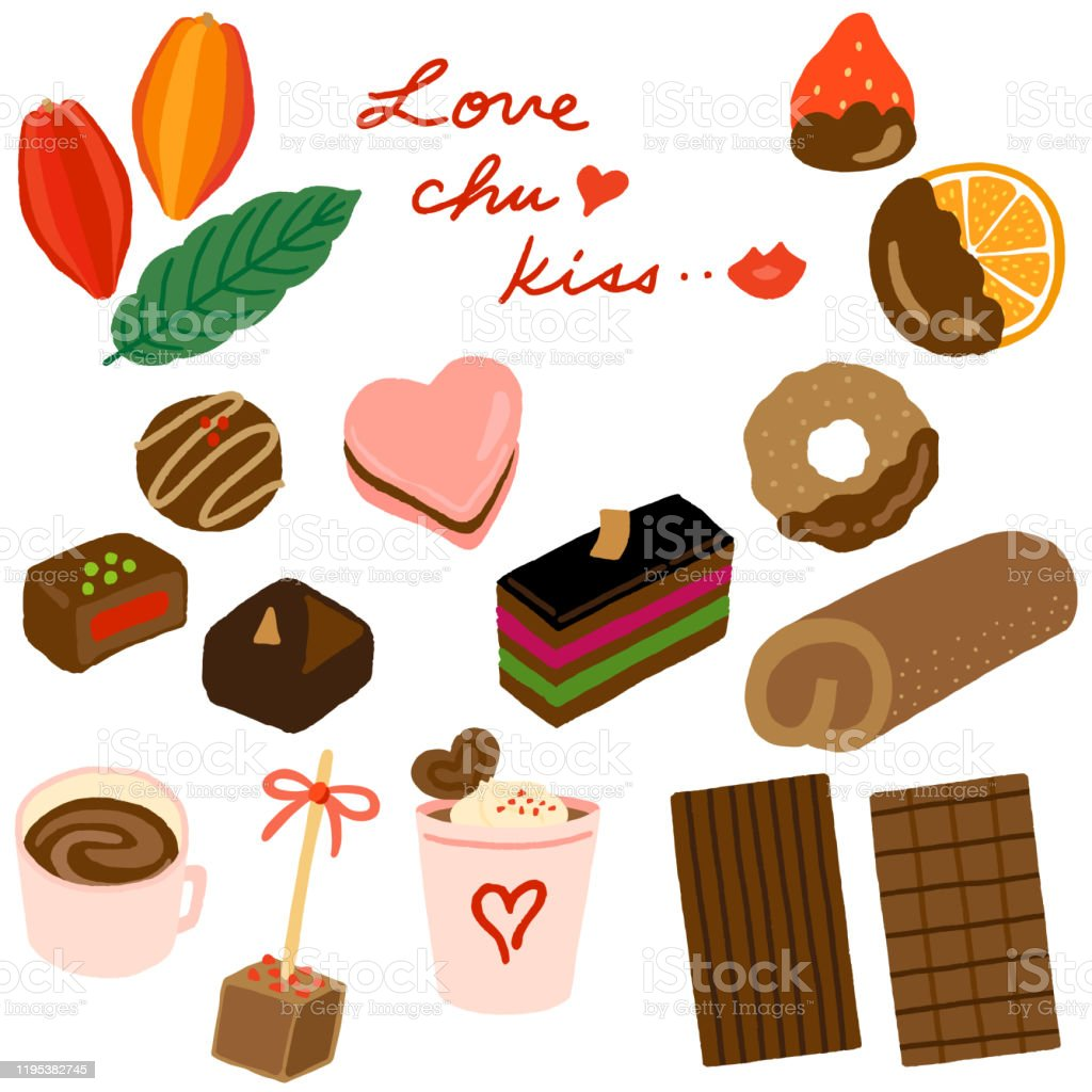Valentine Day Chocolate Sweets Set Stock Illustration Download Image Now Istock