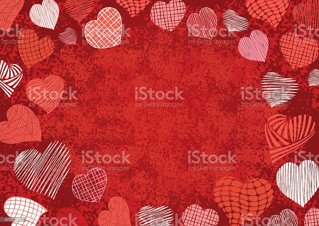 Valentine Day - Frame & Background royalty-free stock vector art