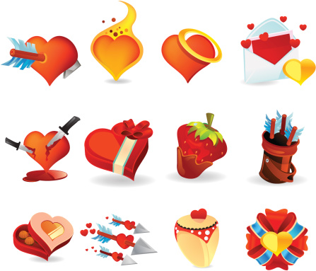Valentine Day Heart Icons