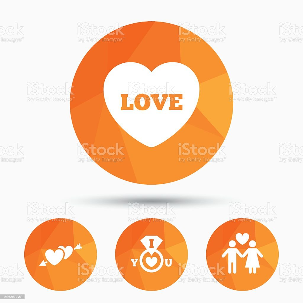 Valentine day icons. I love you ring sign. royalty-free valentine day icons i love you ring sign stock vector art & more images of adult