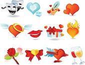 A set of valentine day icons