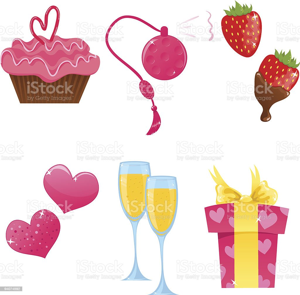 Valentine day icons royalty-free valentine day icons stock vector art & more images of bottle