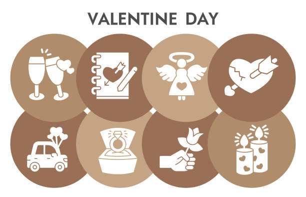 Valentine day infographic design template with icons. Romantic relationship infographic visualization on white background. Attributes for wedding. Creative vector illustration for infographic. Valentine day infographic design template with icons. Romantic relationship infographic visualization on white background. Attributes for wedding. Creative vector illustration for infographic car love stock illustrations