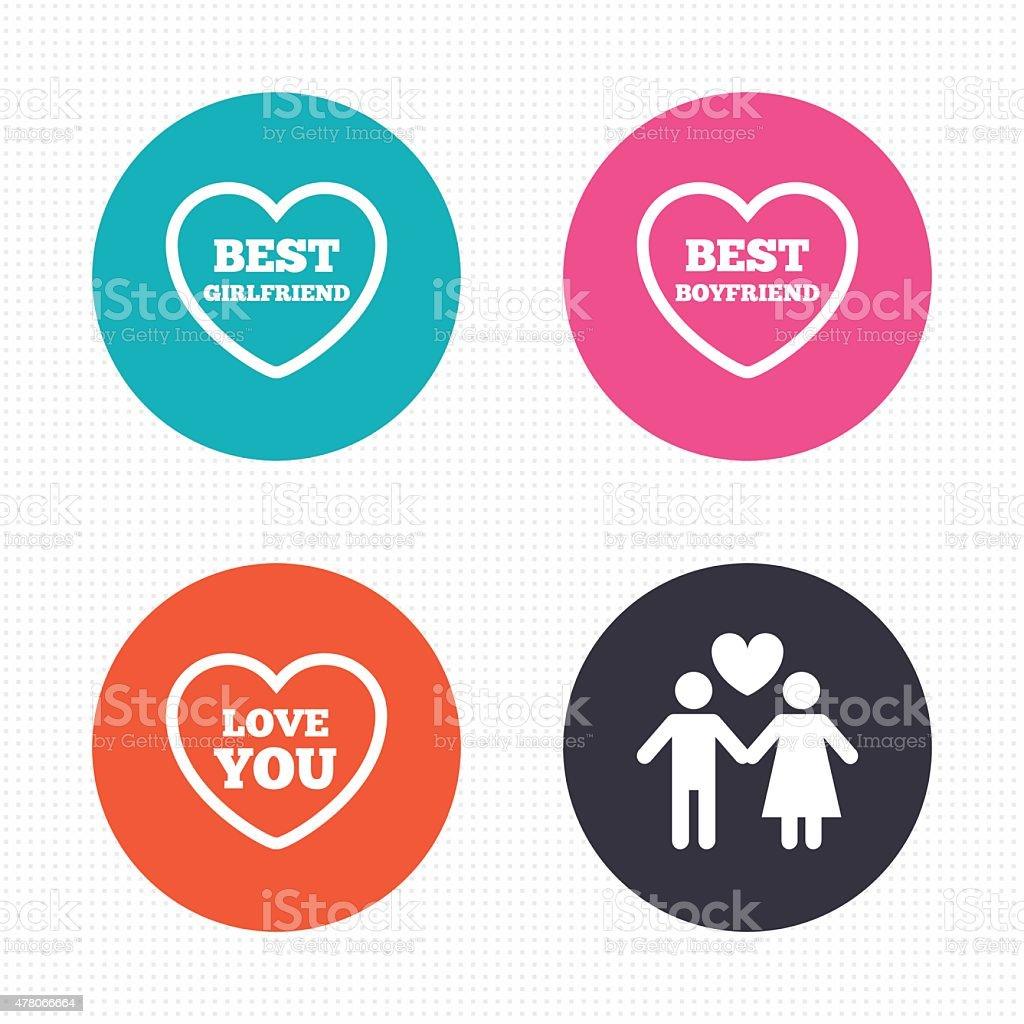 Valentinstag Liebe Symbole Beste Freundin Vektor Illustration