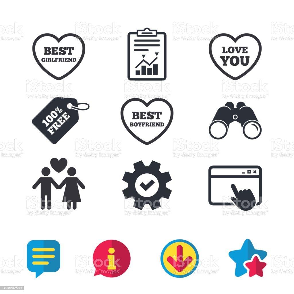 Valentinstag Liebe Symbole Beste Freundin Stock Vektor Art Und Mehr
