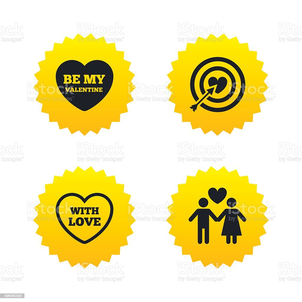 Valentine day love icons. Target aim with heart. royalty-free valentine day love icons target aim with heart stock vector art & more images of adult