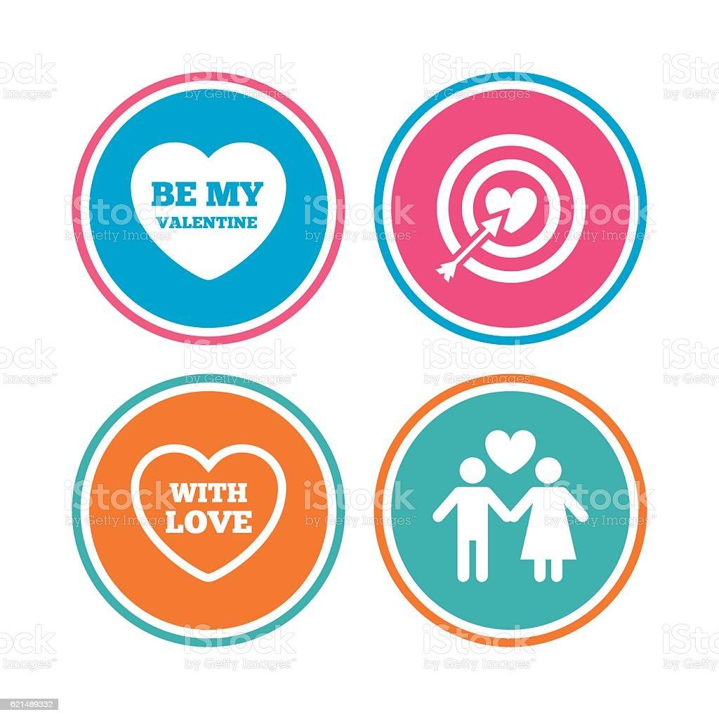 De la Saint-Valentin Amour des icônes. Cible but de cœur. de la saintvalentin amour des icônes cible but de cœur – cliparts vectoriels et plus d'images de adulte libre de droits