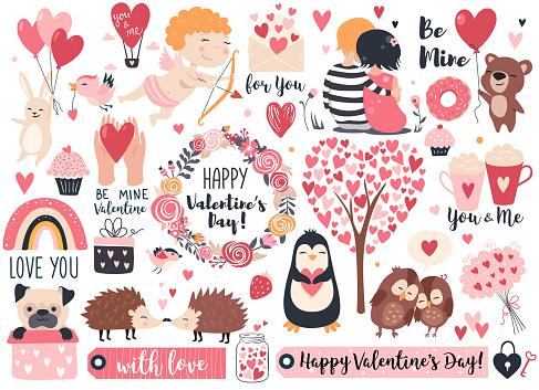 Valentine day set.