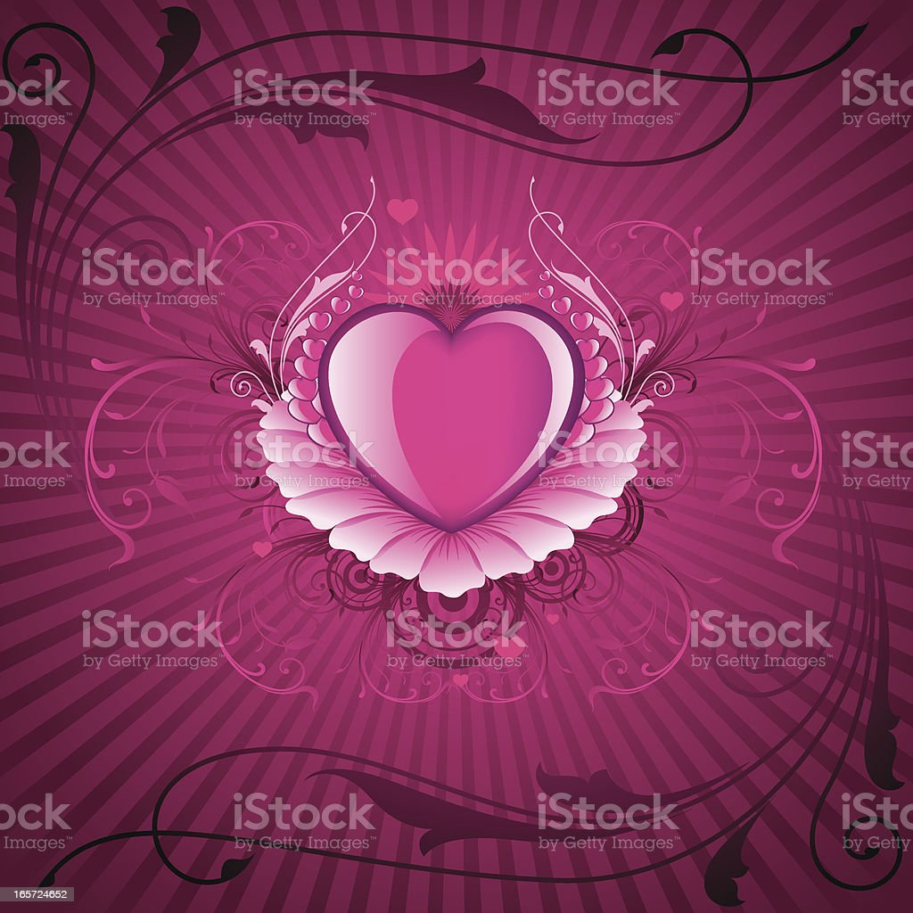 Valentine floral Background royalty-free stock vector art