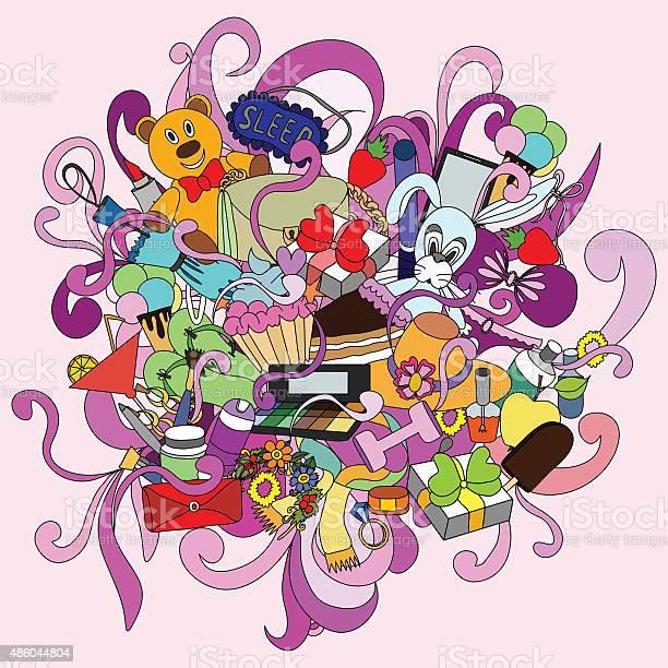 Valentine girl doodle handdrawn sketch doodle design elements vector id486044804?b=1&k=6&m=486044804&s=612x612&h=x23oleclslybyjowcqgxw3dowj29ahbysuaw75z5lls=