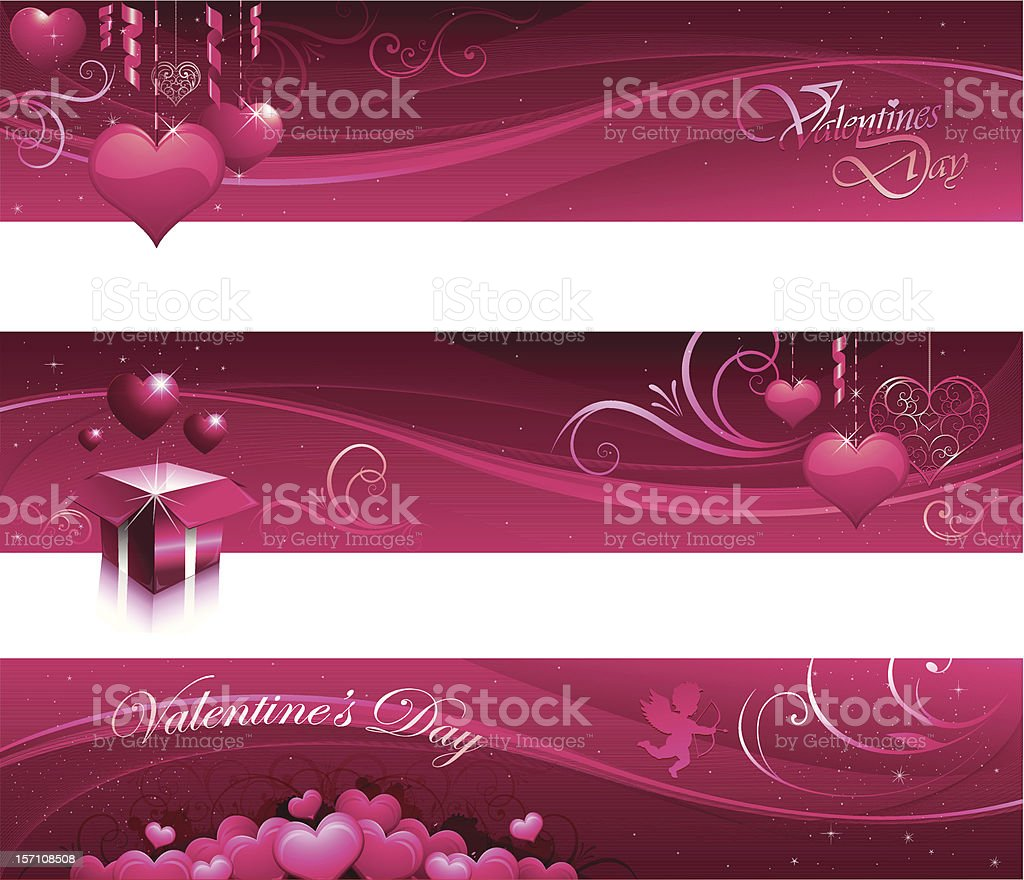 Valentine greeting card banners royalty-free stock vector art