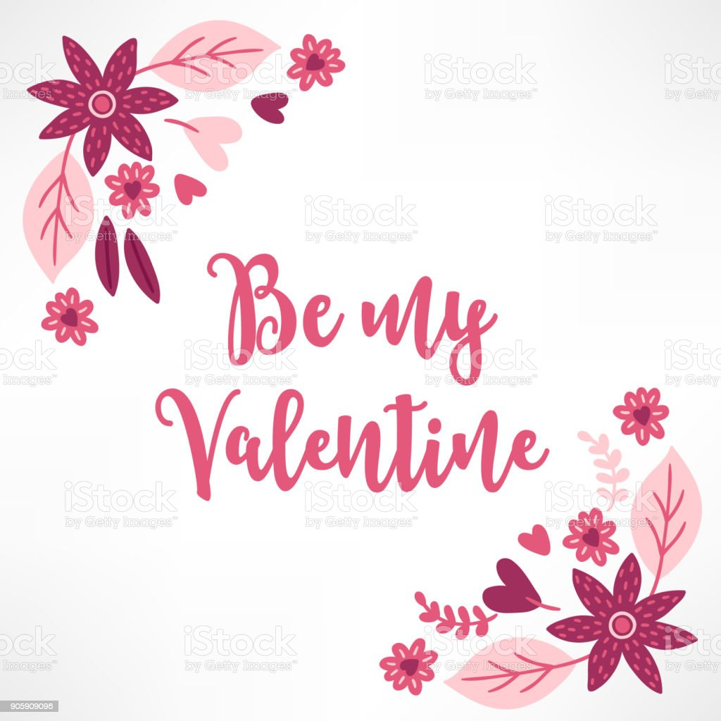 Valentine Greeting Card With Corner Ornament Stock Vector Art More