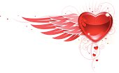 istock Valentine Heart and Wings corner 165908025