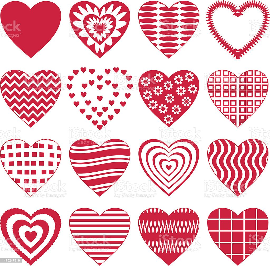 Valentine heart, set royalty-free valentine heart set stock vector art & more images of abstract