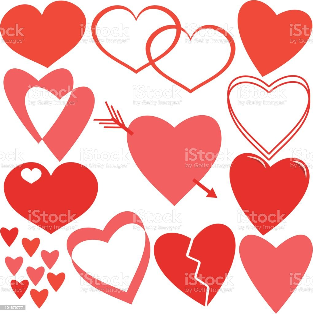Valentine hearts (Vector) royalty-free valentine hearts stock vector art & more images of arrow - bow and arrow