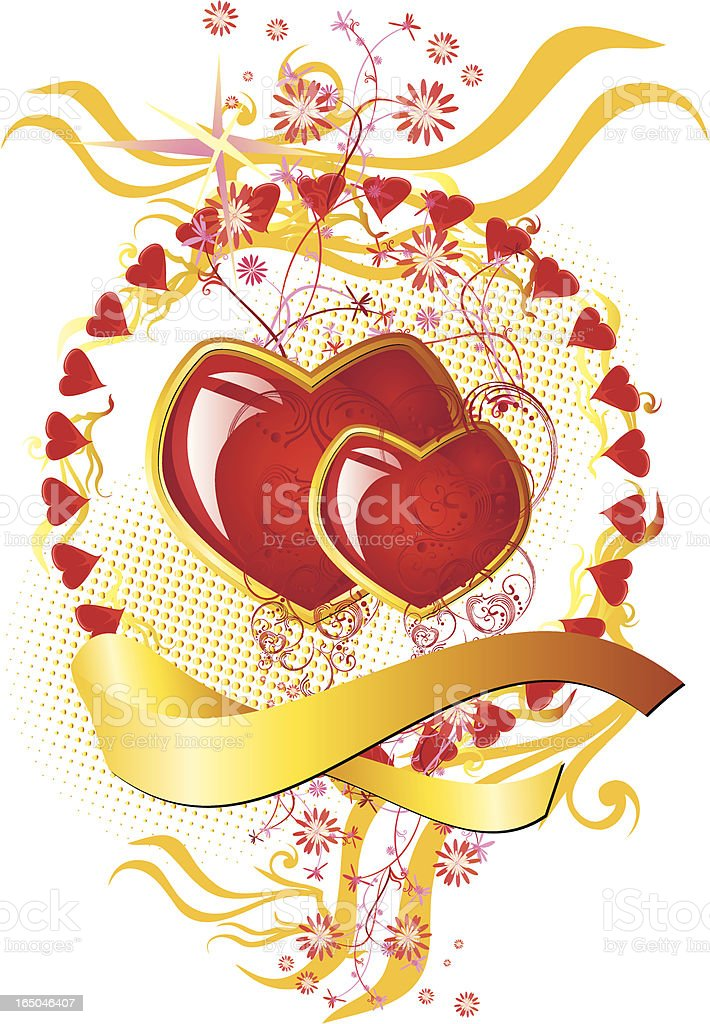 Valentine hearts royalty-free stock vector art