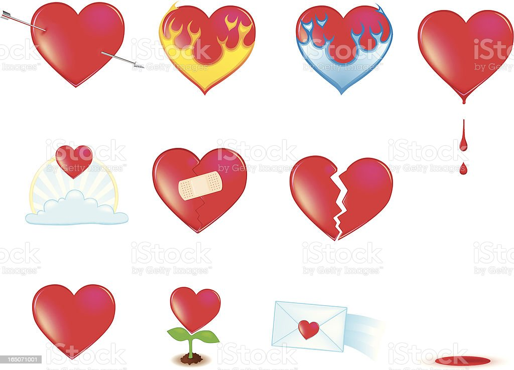 Valentine Hearts vector art illustration