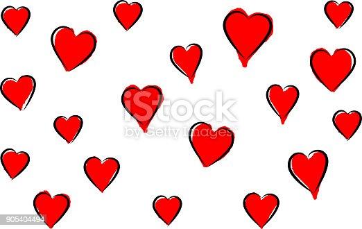 Valentines day red heart design elements background